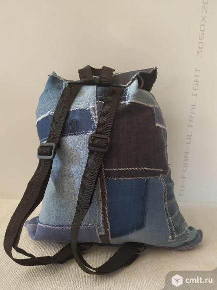 Рюкзак джинсовый эксклюзив ручной работы. Фото 4.