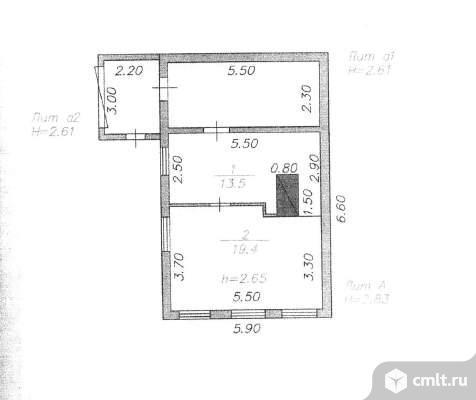 Продается: дом 32.9 м2 на участке 6.74 сот.. Фото 1.