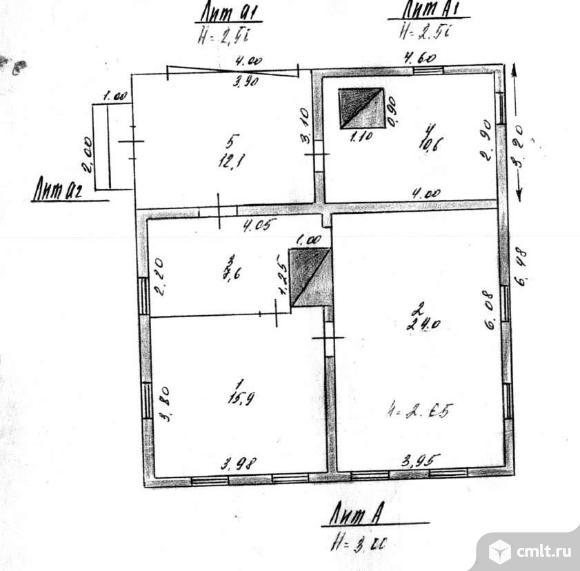 Продается: дом 58.1 м2 на участке 9.65 сот.. Фото 7.