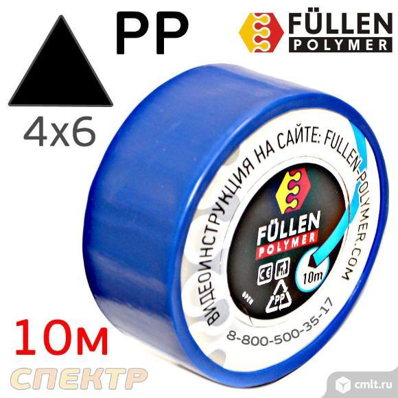 Пластиковый профиль FP PP черный 3,7х3,7х5,7мм 10м. Фото 1.