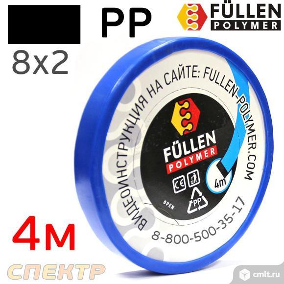 Пластиковый профиль FP PP черный плоский 8х2мм 4м. Фото 1.