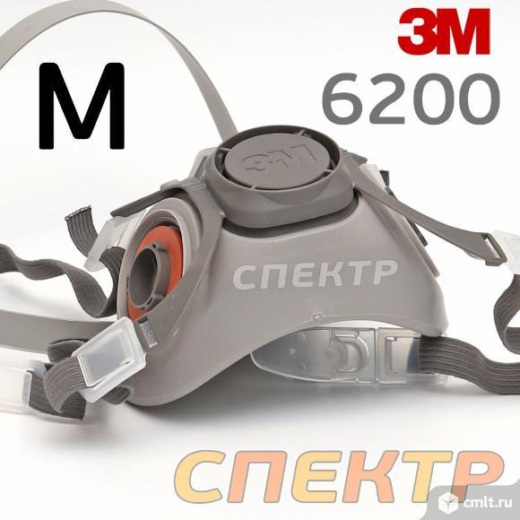 Полумаска 3M  размер M (средний) 6200 без патронов. Фото 4.