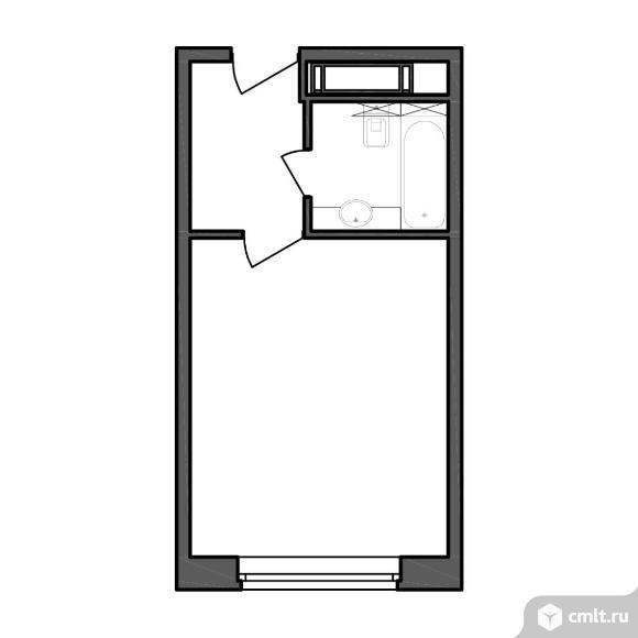 1-комнатная квартира 25,88 кв.м. Фото 1.