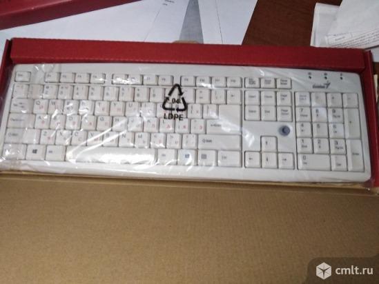 Клавиатура, модель Genius KB-06(X/X2/XE) USB, белая. Фото 1.