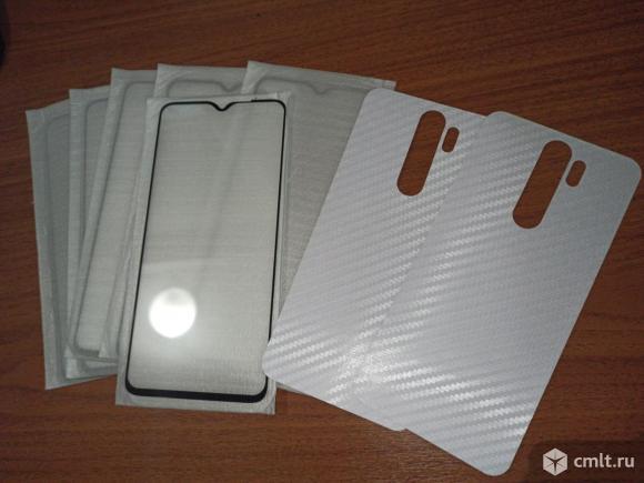 Для Redmi Note 8Pro Стёкла защитные,плёнки карбоновые. Фото 1.