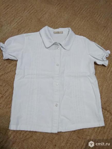 Школьные белые блузки для 1 класса. Фото 1.