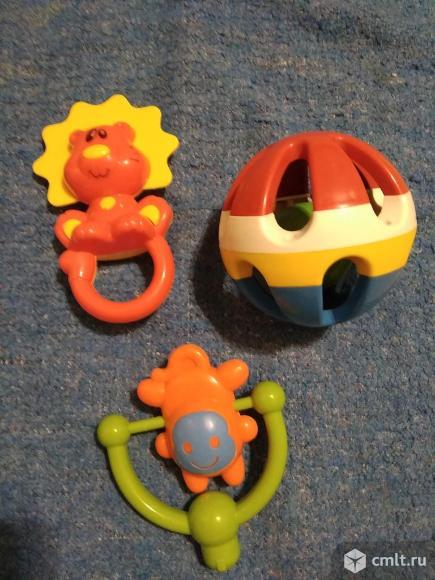 Игрушки-погремушки детские (за 3 шт). Фото 1.