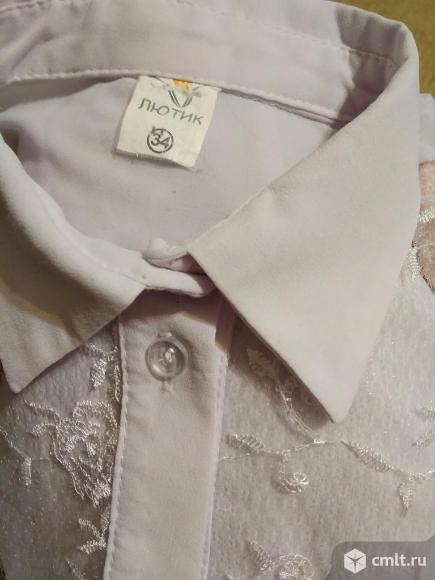 Блузка школьная кружевная для 1-2 класса. Фото 3.