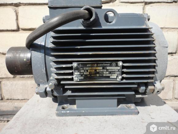 Двигатель асинхронный тип АИР90LB 8У3 , 220/380 В.  1,1 кВт. 700 об/мин.. Фото 3.