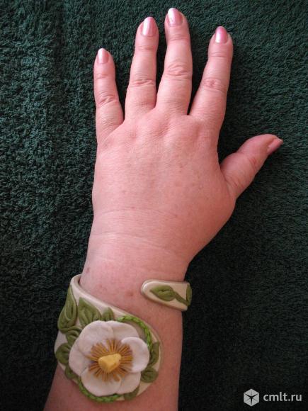 браслет кожа янтарь натуральная