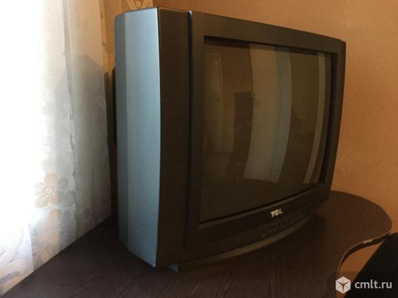 Телевизор кинескопный цв. TCL с цифровой приставкой. Фото 4.