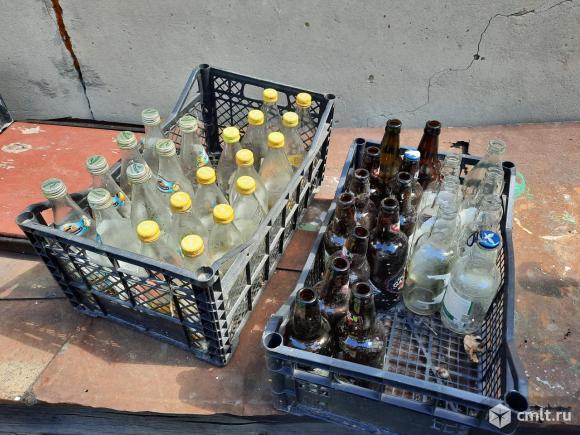 Бутылки стеклянные 0,5 л., банки 0,27 л.. Фото 1.