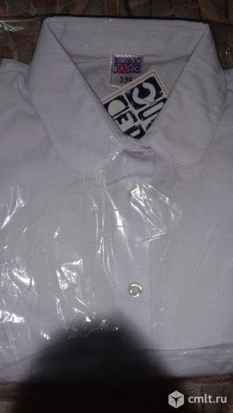 Новая белая рубашка для девочки. Фото 1.