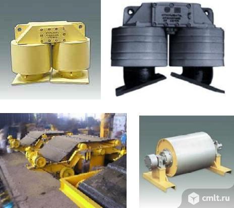 Железоотделители электромагнитные подвесные, саморазгружающиеся, шкивные. Фото 1.