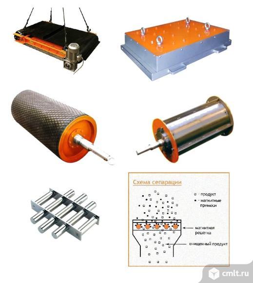 Железоотделители (сепараторы) на постоянных магнитах. Фото 1.