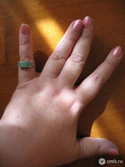 кольцо изумруд серебро