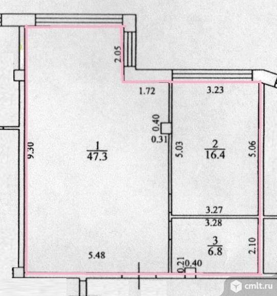2-комнатная квартира 72 кв.м. Фото 10.
