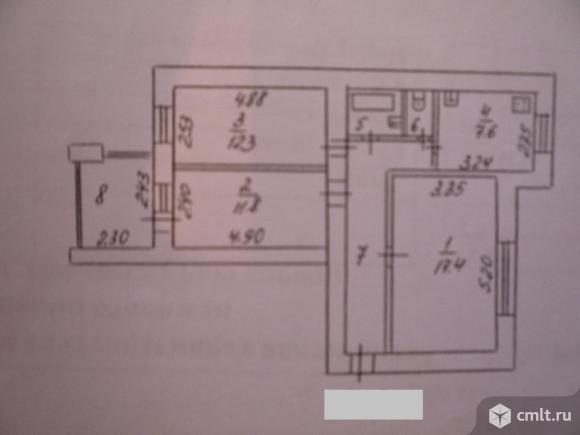 3-комнатная квартира 66 кв.м. Фото 9.