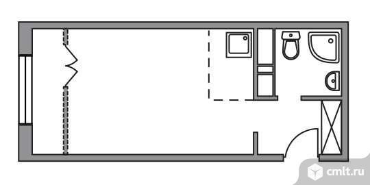 1-комнатная квартира 24,69 кв.м. Фото 1.