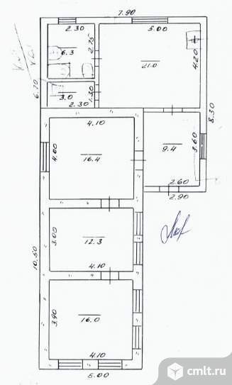 Продается: дом 84.4 м2 на участке 9.17 сот.. Фото 5.