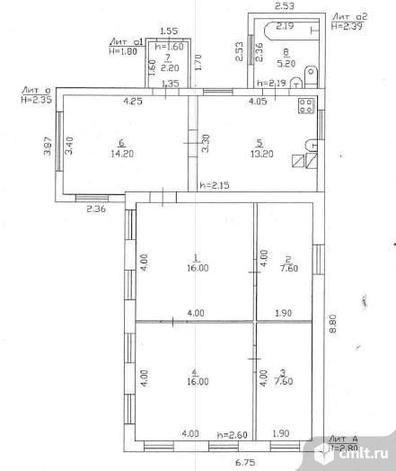 Продается: дом 82 м2 на участке 13.83 сот.. Фото 1.