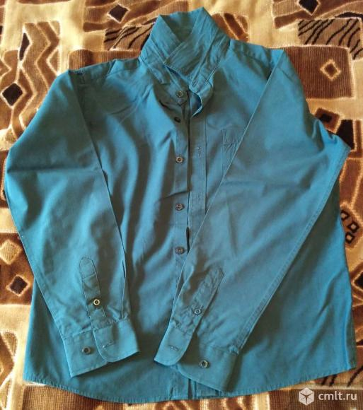 Темно-синяя рубашка. Фото 1.