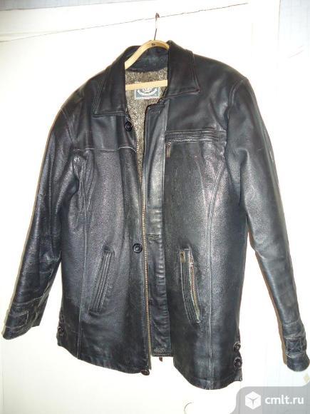 Куртка кожаная ( натур) мужская утепленая. Фото 1.