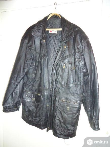 Куртка кожаная мужская (натур). Фото 1.