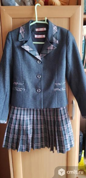 Школьная фотрма:пиджак+сарафан. Фото 1.