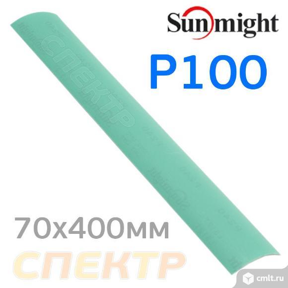 Полоска Sunmight 70x420мм (P100) липучка зелёная. Фото 1.