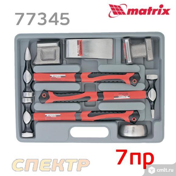 Набор рихтовочных молотков MATRIX 10845 (7пр.). Фото 1.