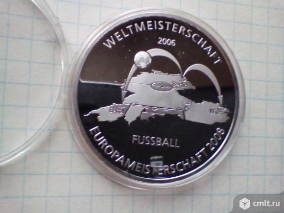 Германия чемпионат мира по футболу. Серебро 0,925  Вес 20 грамм. Фото 1.