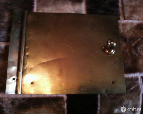 Створка печная латунь. Фото 1.