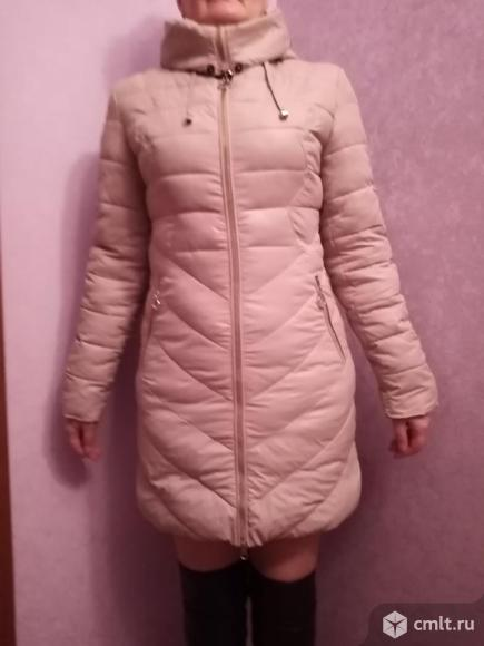 Пальто жён на синтепоне рр 44,46. Фото 1.