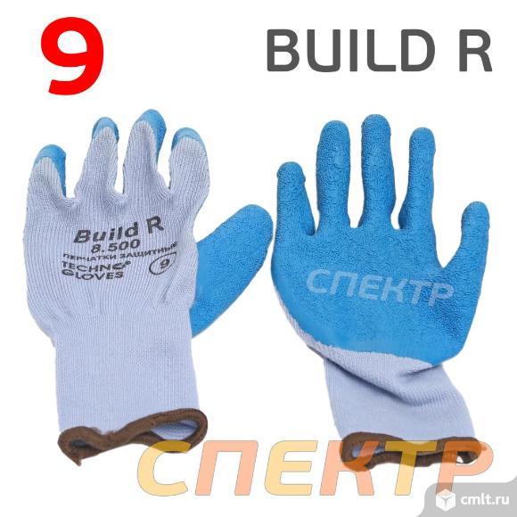 Перчатки защитные BUILD R 8.500 (р.9) бесшовные. Фото 1.