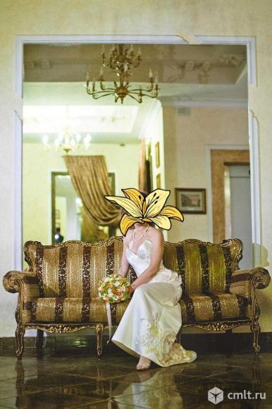 Платье свадебное, р. 44, корсет, цв. айвори, б/у, чистое. Фото 1.