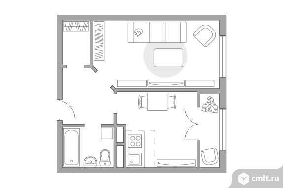 2-комнатная квартира 37,52 кв.м. Фото 1.