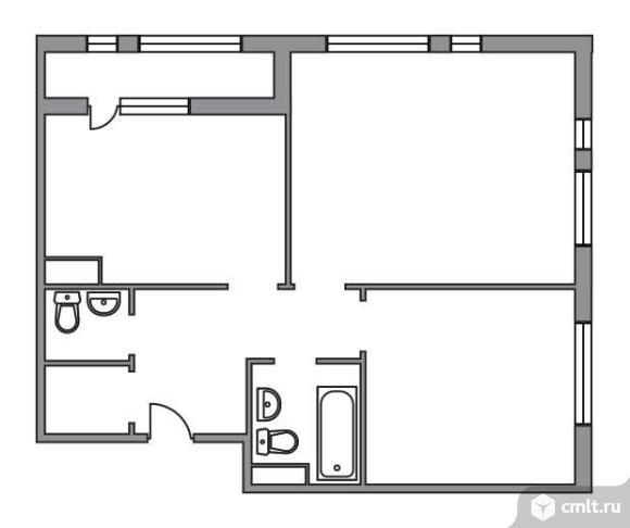 2-комнатная квартира 66,1 кв.м. Фото 1.
