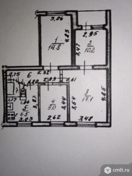 4-комнатная квартира 69 кв.м. Фото 1.