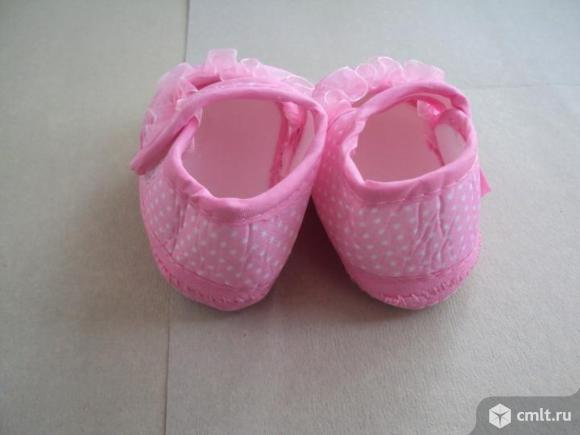 Детские ботинки в горошек. Фото 2.