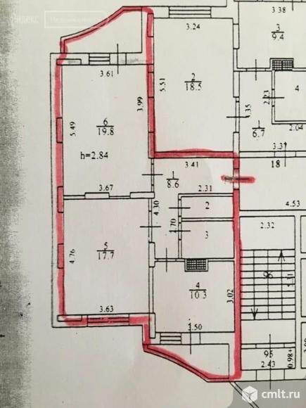 2-комнатная квартира 61,4 кв.м. Фото 1.
