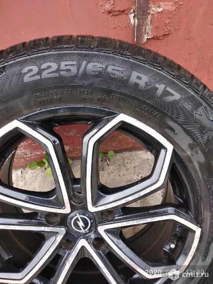 Продам шины с дисками на Опель. Фото 1.