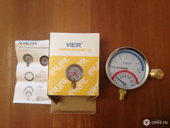 Термоманометр новый.. Фото 3.