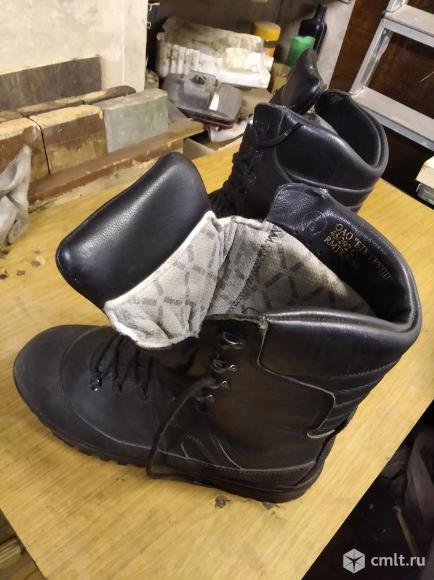 Сапоги утепленные кожаные. Фото 1.