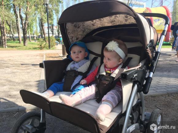 Детская коляска для двойни Geoby SC705-X 2 в 1.. Фото 1.