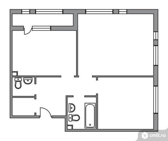 2-комнатная квартира 67 кв.м. Фото 1.