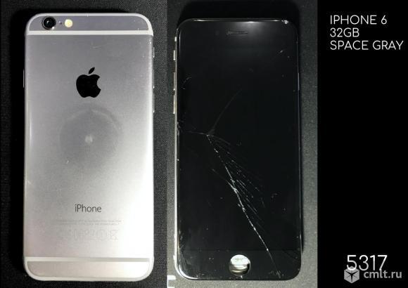 Битый Apple Iphone 6 32GB запчасти. Фото 1.