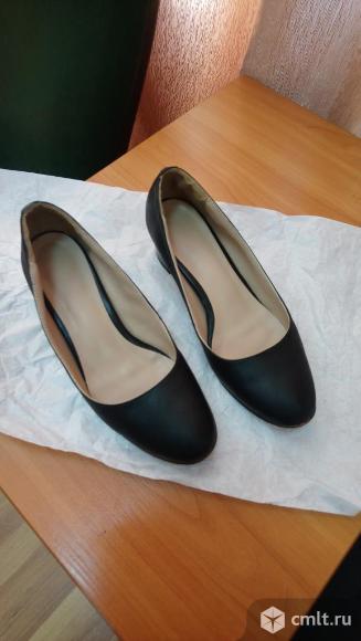 Туфли женские кожа офисные. Фото 1.