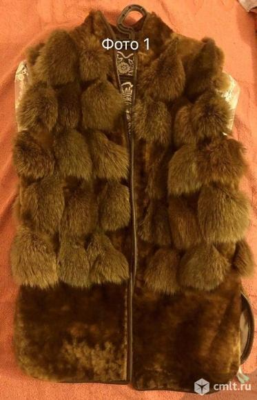 Продается натуральный меховой жилет. Фото 1.