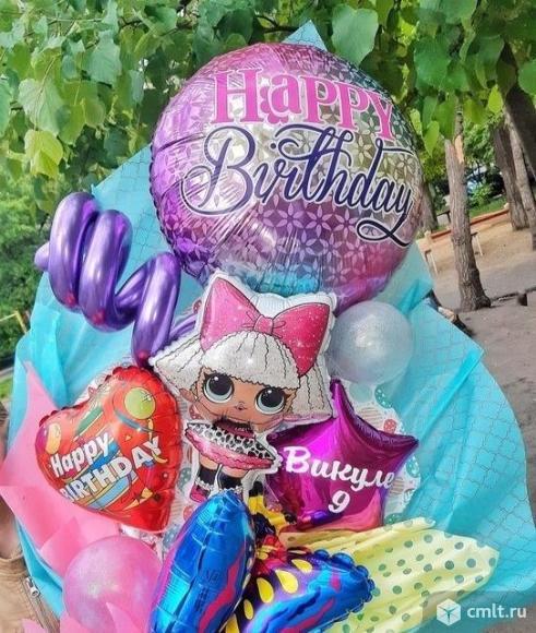 Крафтовый букет из воздушных шаров. Фото 1.